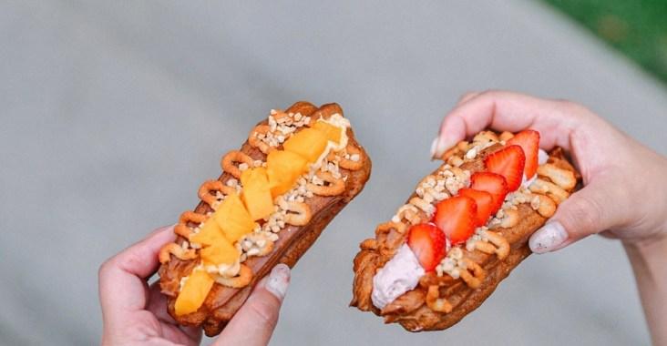 【三重甜點】台灣蕃薯:不是地瓜專賣的專賣店,讓少女心噴發兩大王牌「芒果、草莓閃電泡芙」也才45元! @女子的休假計劃