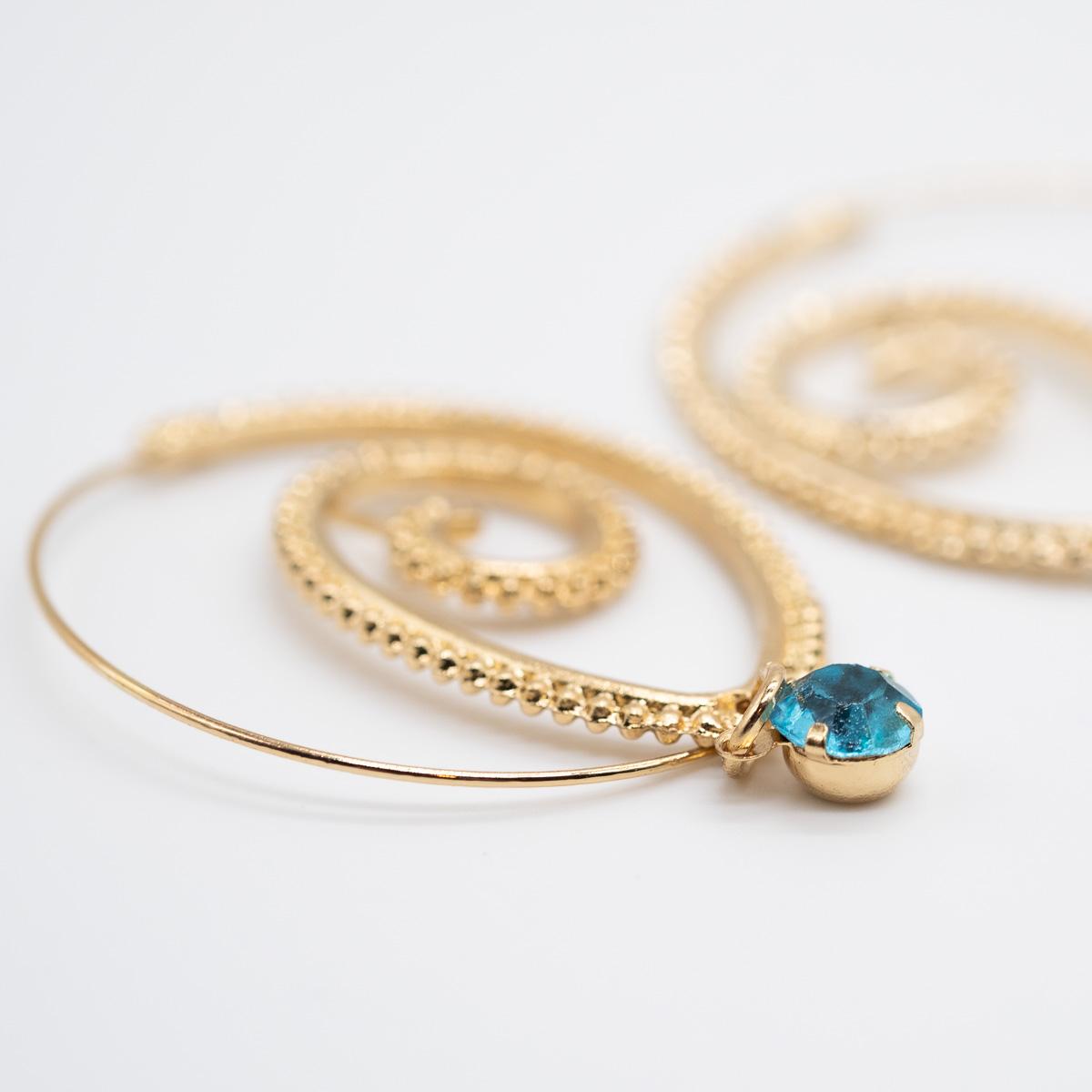 ORS-012 boho bohemian oorstekers goud