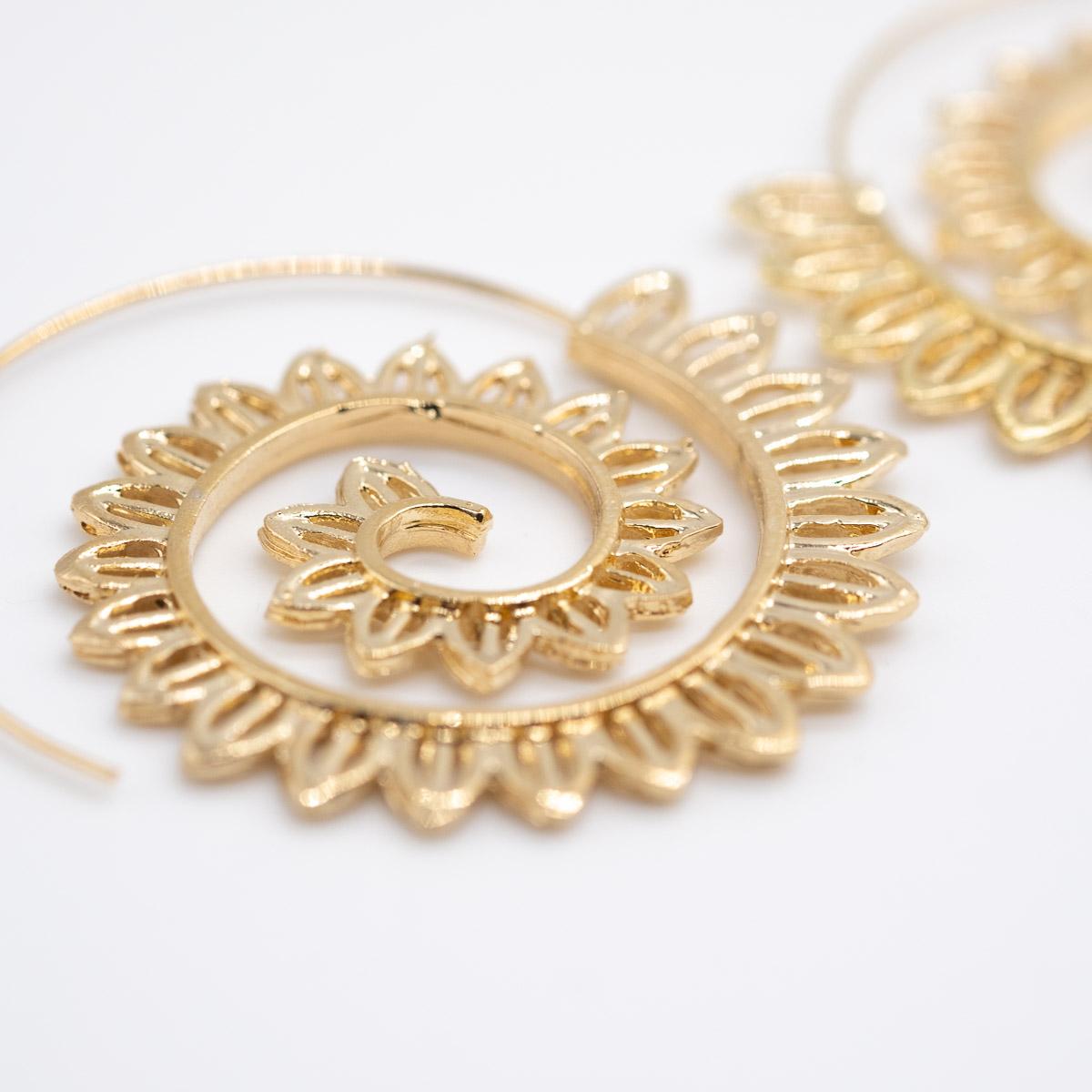 ORS-016 boho oorstekers goud metaal