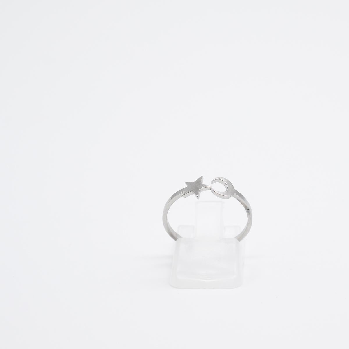 RNG-007 ring kopen boho maan ster zilver roestvrij staal