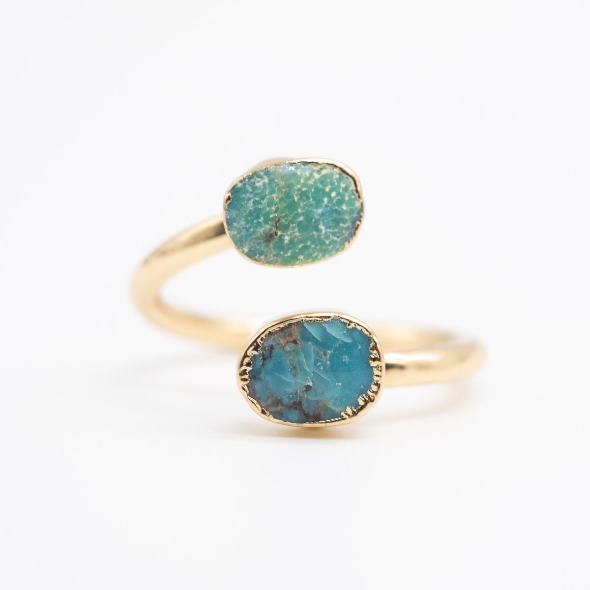 RNG-010 blauwe turkoois ring