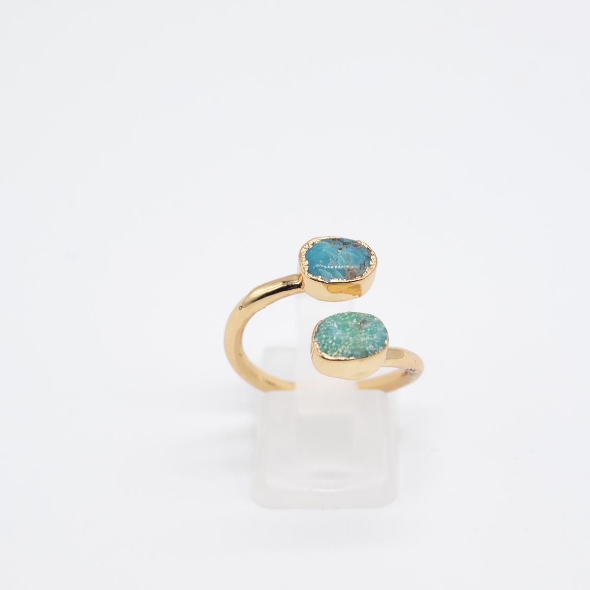 RNG-010 ring tukoois blauw groen
