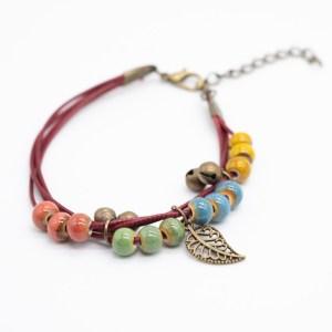 kleurrijke bohemian armband regenboog keramiek kopen