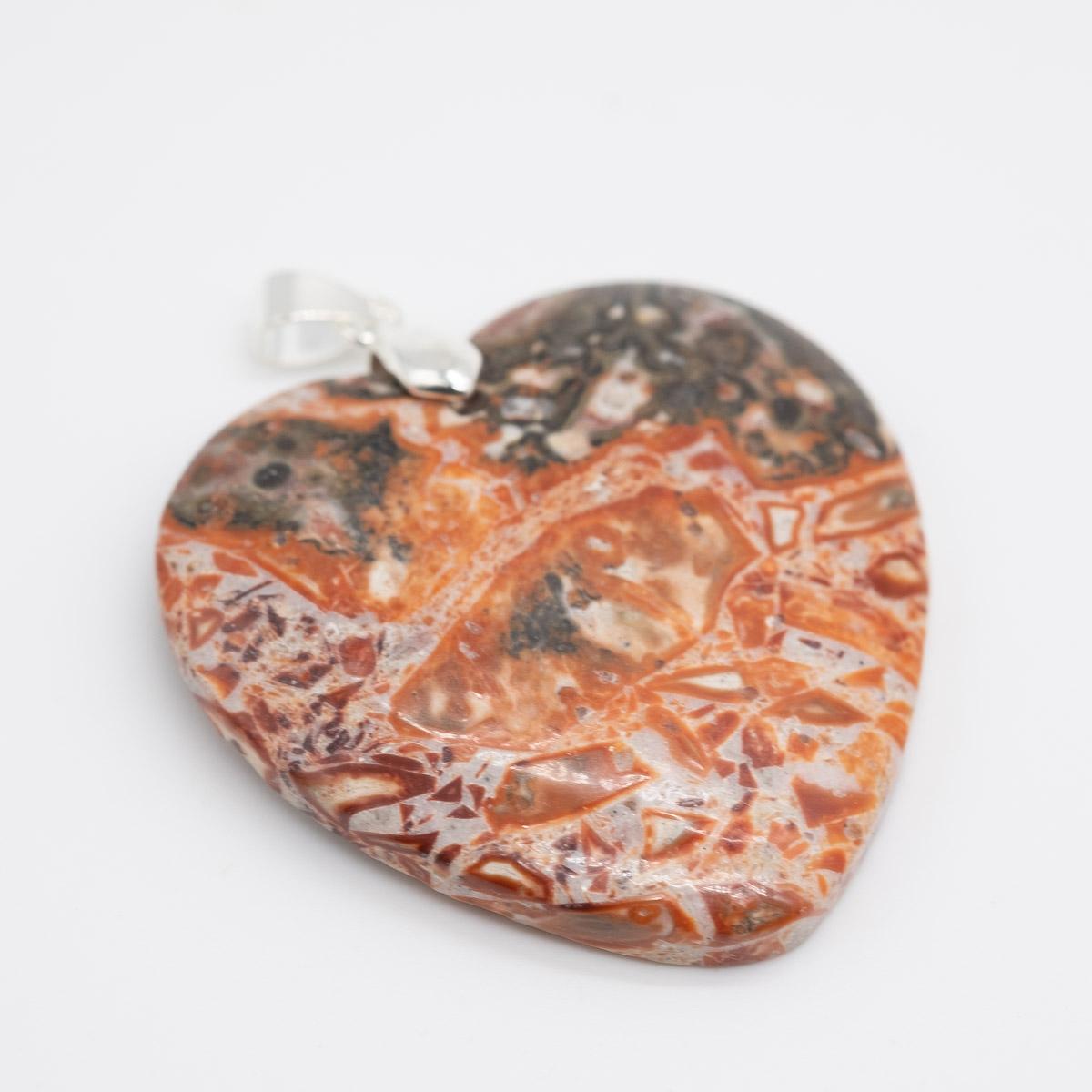 HGR-021 jaspis hanger in de vorm van een hart