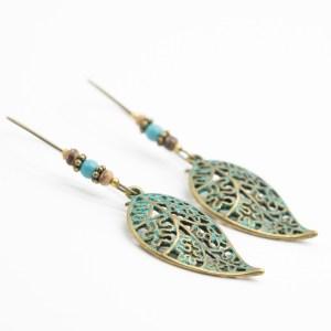 vintage boho oorbellen turkoois kopen
