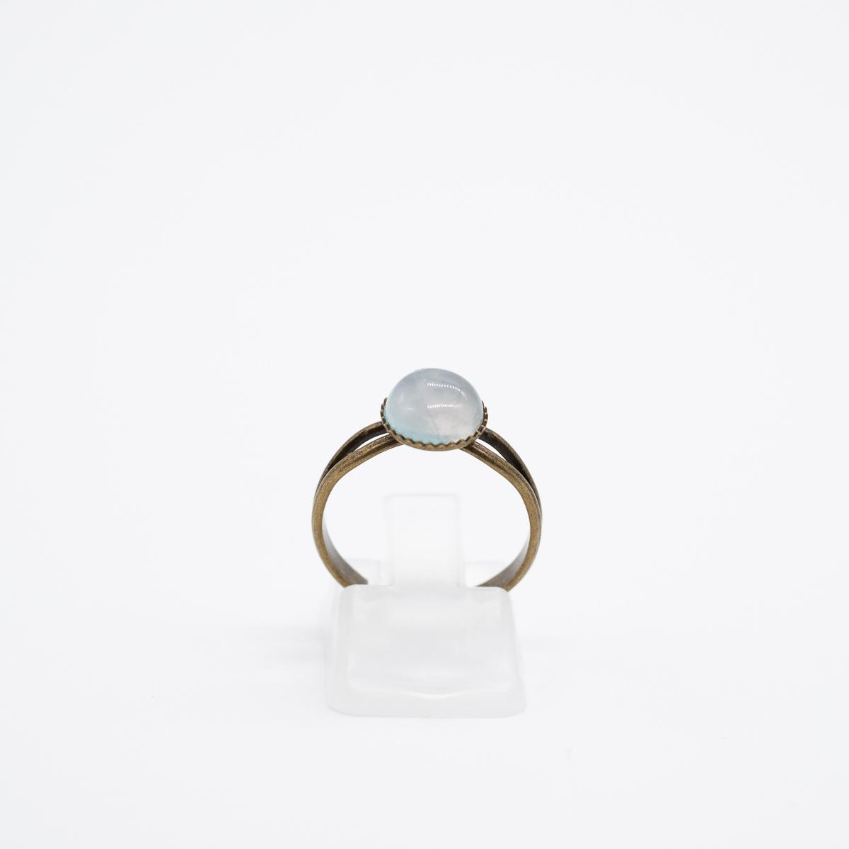 RNG-015 rozenkwarts ring brons