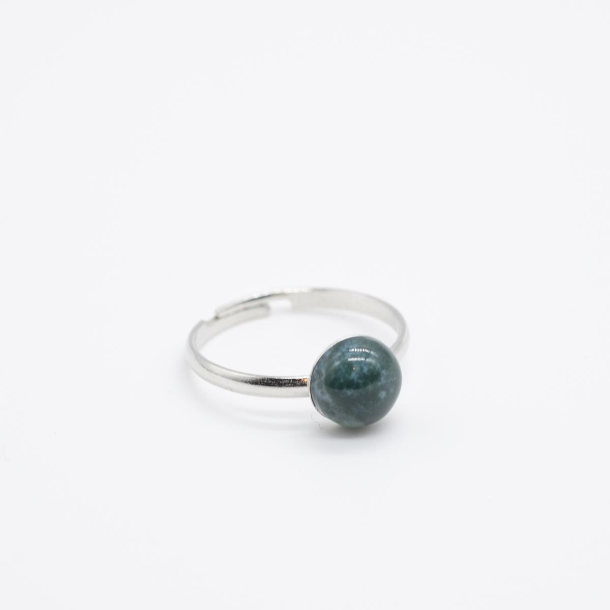 RNG-018 mosagaat ring zilver