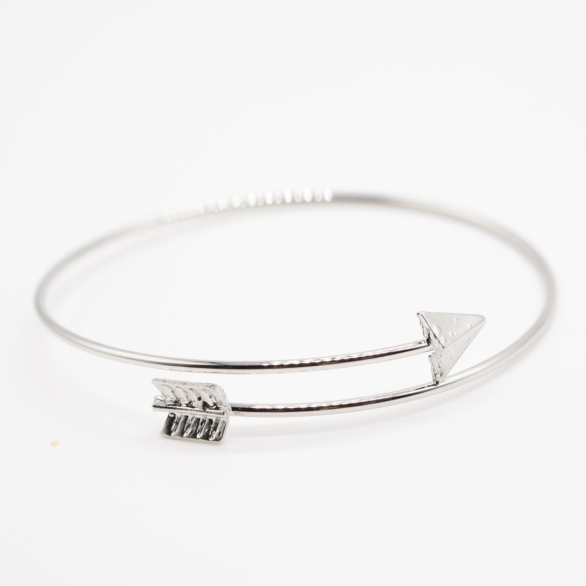 BCT-014 zilver pijl bohemian armband metaal