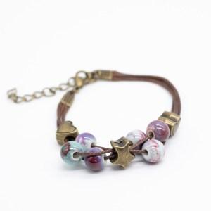 bohemian armband ster en hartje keramiek kopen
