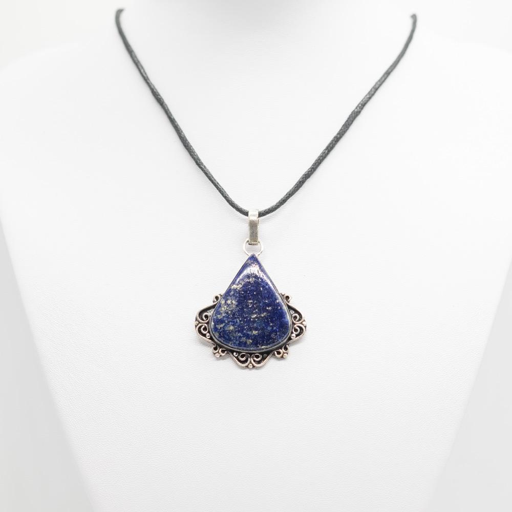 HGR-032 zilveren hanger lapis lazuli