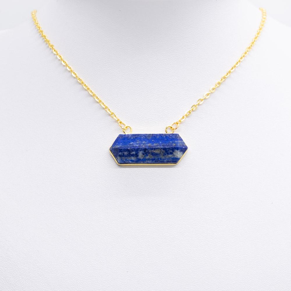 KET-050 handgemaakte ketting met echte lapis lazuli