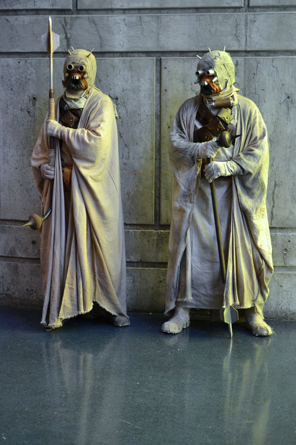 Cosplay of Sand People from Star Wars © Girls on Games / Catherine Smith-Desbiens