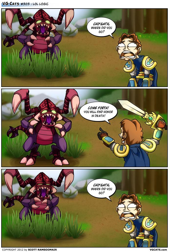 VG Cats Comic: LoL Logic