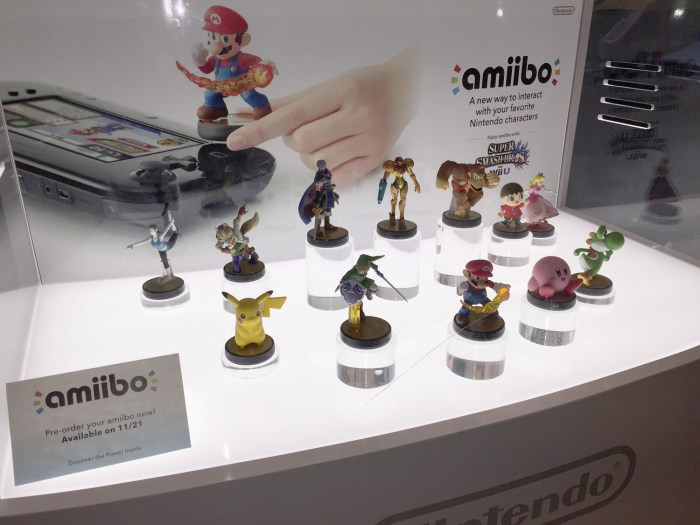 Close up of the Amiibo display at the Nintendo World Store in NYC © Leah Jewer / Girls on Games