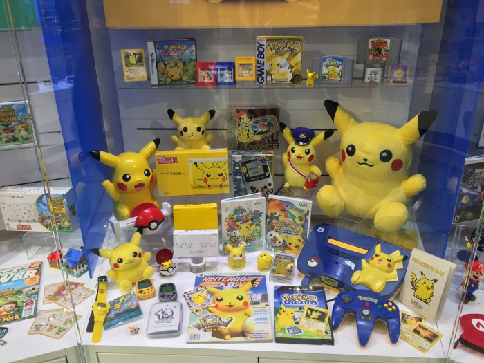 Pokémon display at the Nintendo World Store in NYC © Leah Jewer / Girls on Games