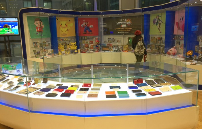 Nintendo history display at the Nintendo World Store in NYC © Leah Jewer / Girls on Games