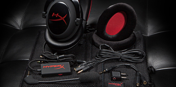 Hyper X Cloud Headset - What's in the box. Photo © Kingston
