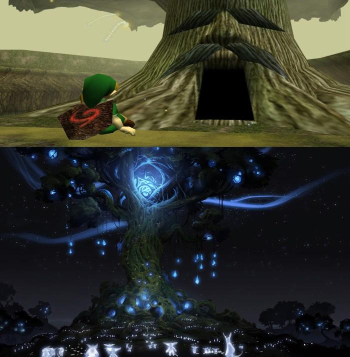 The Legend of Zelda Deku Tree vs Ori and the Blind Forest's Spirit Tree