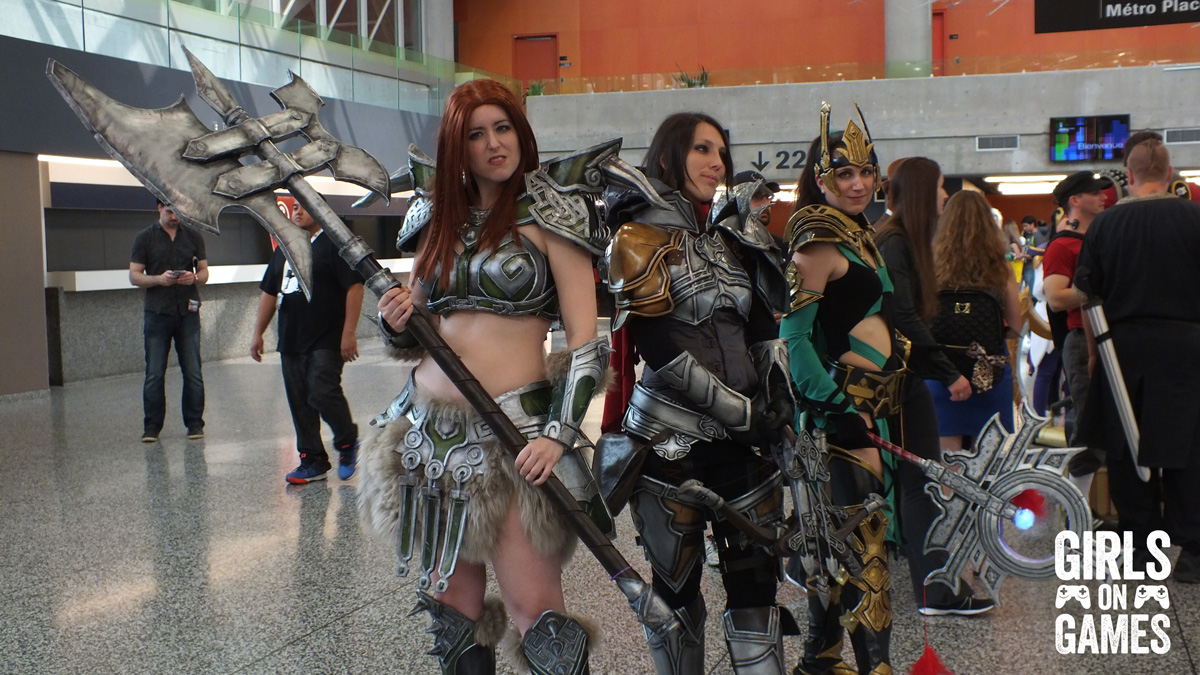 Diablo 3 Cosplay at Montreal Comiccon 2015. Photo © Simon Marcoux / Girls on Games