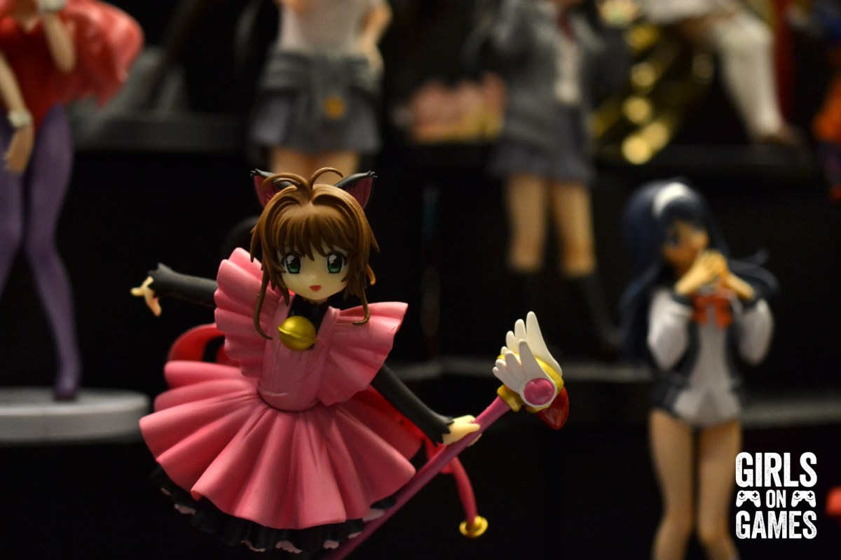 Card Captor Sakura and other anime character figurines on the Otakuthon 2015 convention floor.