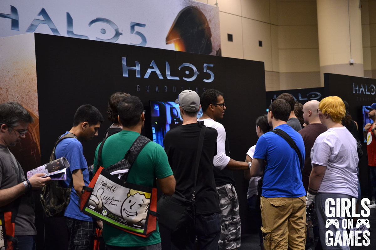 Halo 5 demo at the Xbox booth at Fan Expo 2015