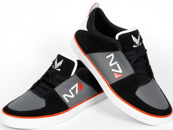 N7 Mass Effect Video Game Sneakers
