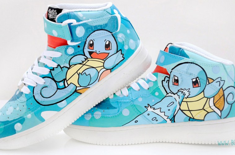 Squirtle Shoes by Bob's Made