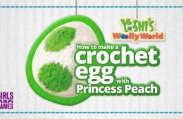 How to make a yarn Yoshi crochet egg with Princess Peach