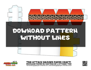 Download Trio Attack Hammer Papercraft Pattern Without Lines
