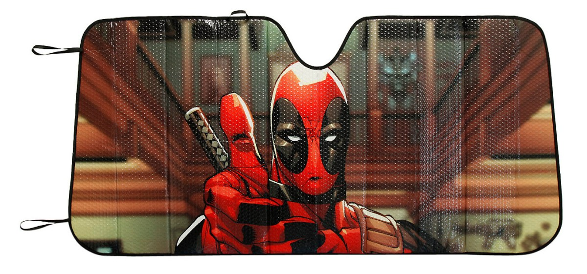 Marvel Deadpool Thumbs Up Accordion Sunshade