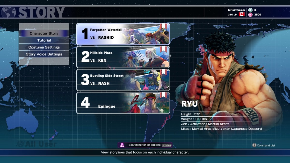 This is what the story mode looks like. 3 short fights, that's it.