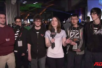 Catherine Interviewing League of Legends Winners DatZit Gaming Triangle - Screenshot from RDS.ca
