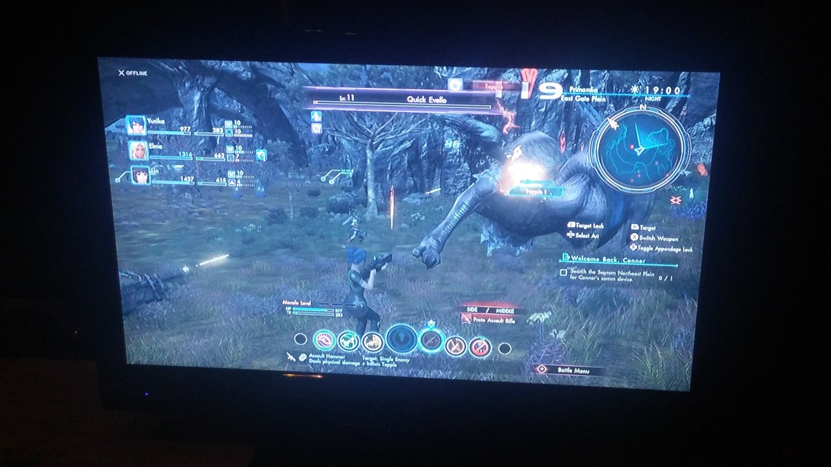 Xenoblade Chronicles was on display Sunday