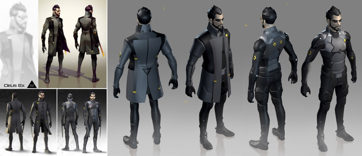 Deus Ex GO Adam Jensen model from Square Enix Montreal