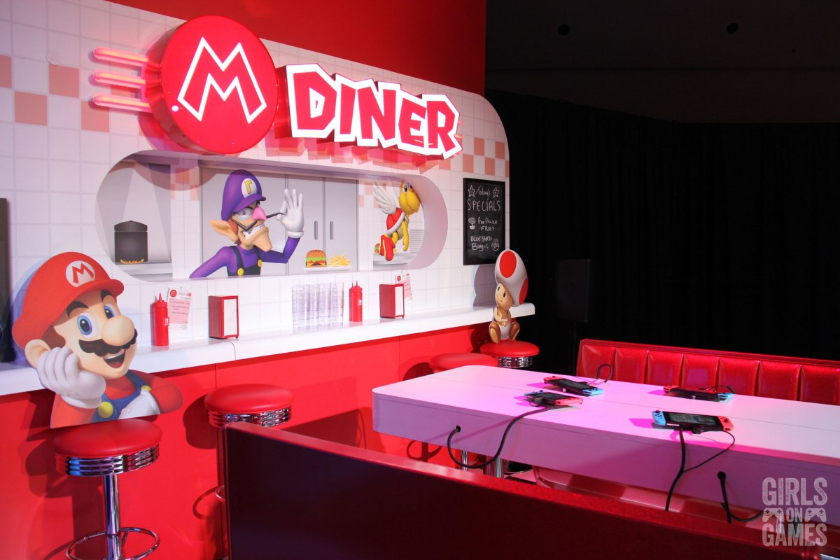 Mario Kart Diner at the Nintendo Switch event in Toronto. Photo: Leah Jewer / Girls on Games