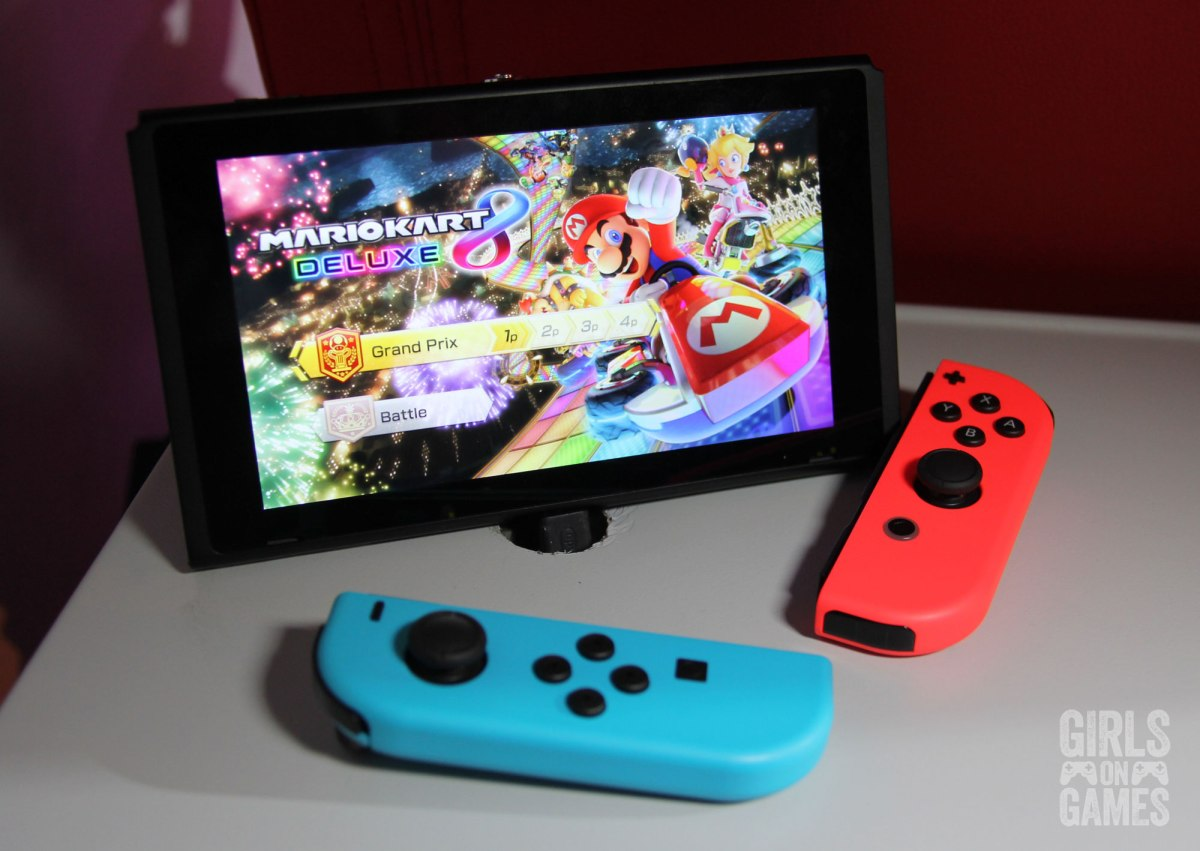 Mario Kart 8 Deluxe at the Nintendo Switch event in Toronto. Photo: Leah Jewer / Girls on Games