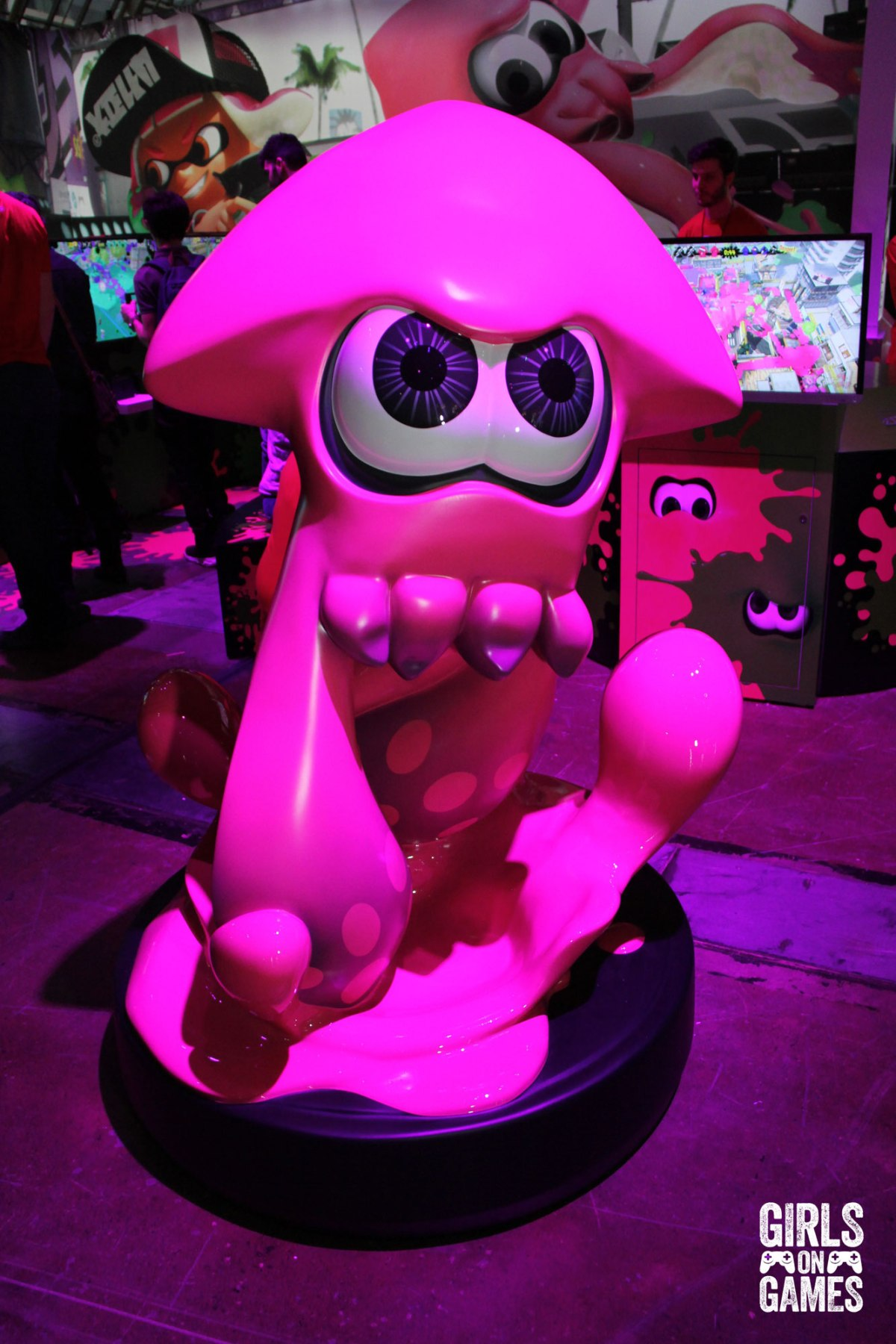 Splatoon Ink statue at the Nintendo Switch event in Toronto. Photo: Leah Jewer / Girls on Games