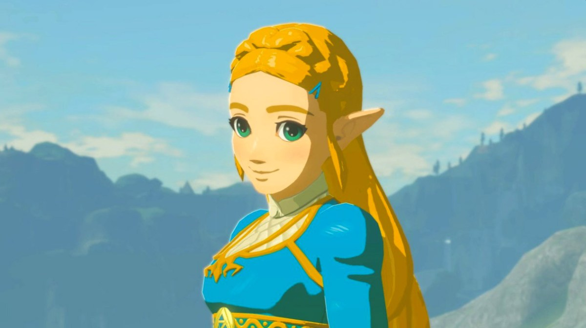 Princess Zelda looking awesome in the Legend of Zelda: Breath of the Wild. Screen shot from Nintendo Switch by Leah Jewer