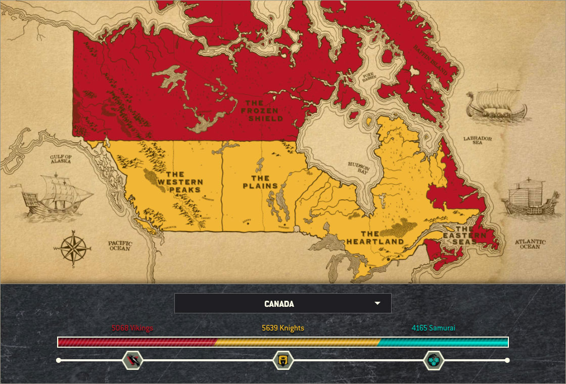 Battle for Canada Map