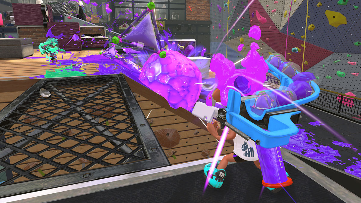 Splatoon2 new weapon, the Bomb Launcher. From Nintendo