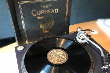 Cuphead Soundtrack on Vinyl (Photo by Leah Jewer / GIrls on Games)