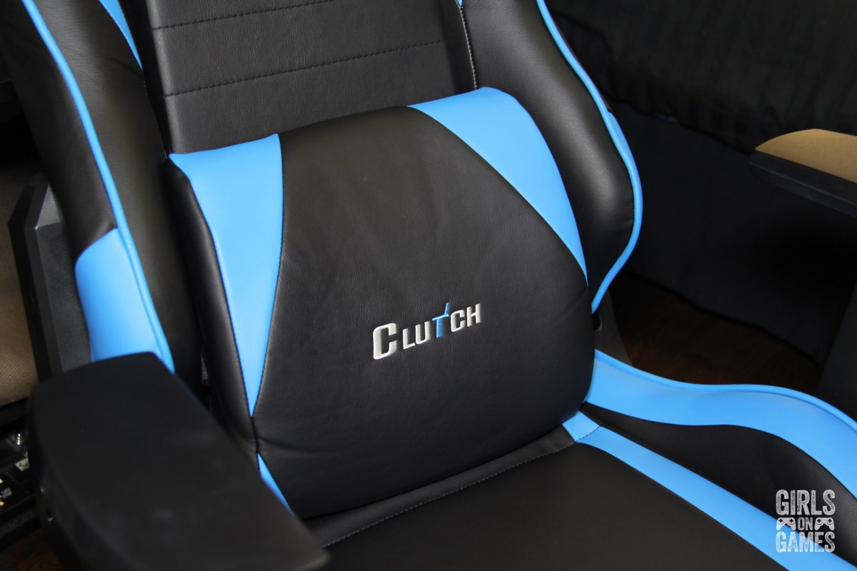 ClutchChairz Lumbar Support on Gear Series Alpha Blue