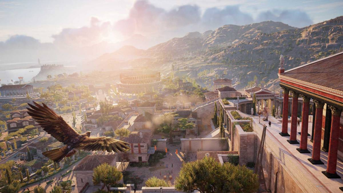 Assassin's Creed Origins Cyrene Flyby. Photo from Ubisoft
