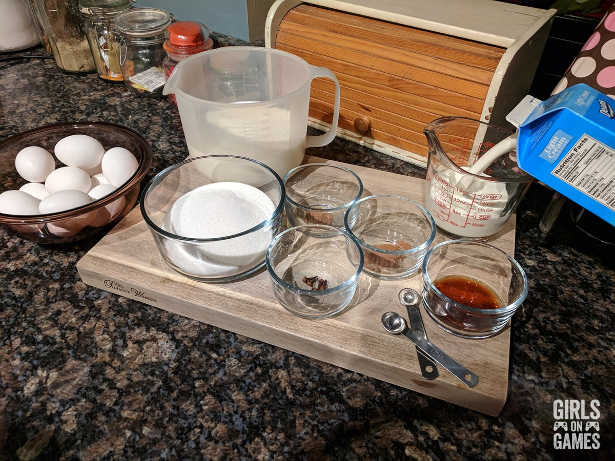 Power-up Mushroom Eggnog Ingredients