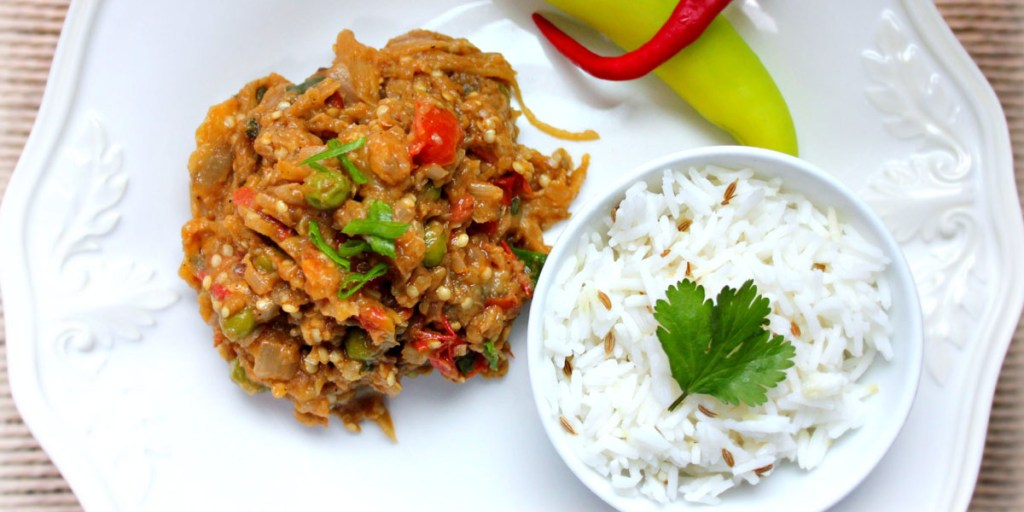 foods for healthy skin - Baingan bharta - India