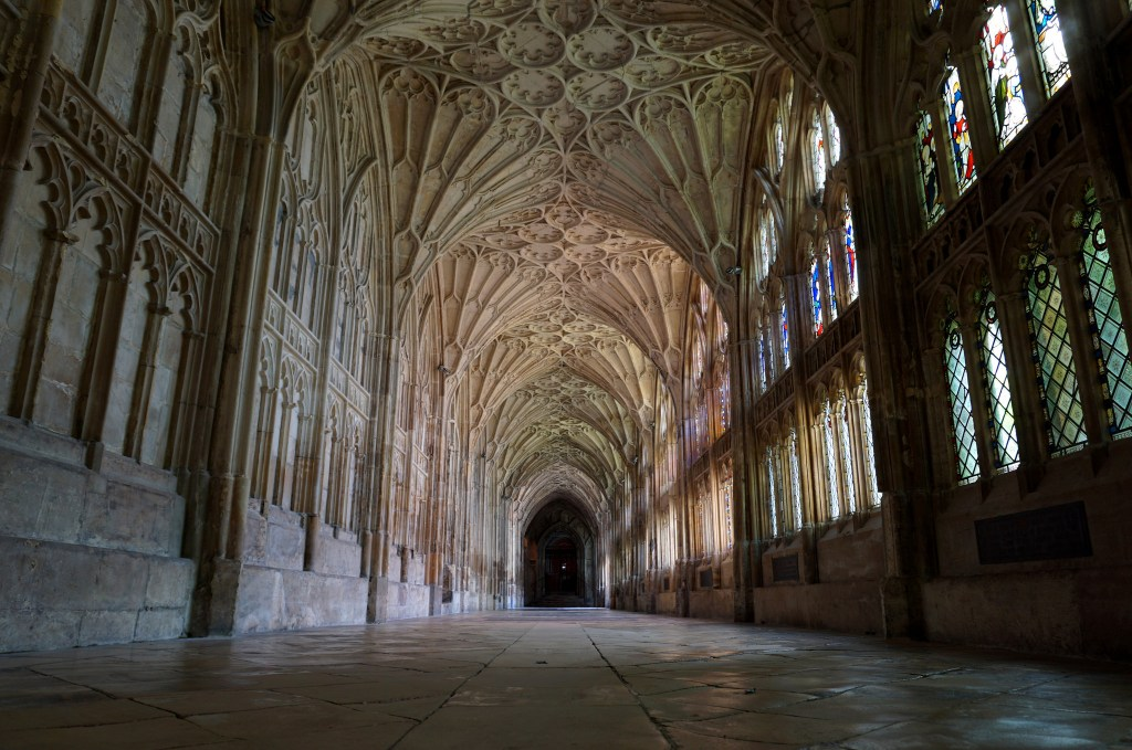 Corridor of Gloucester Cathedral