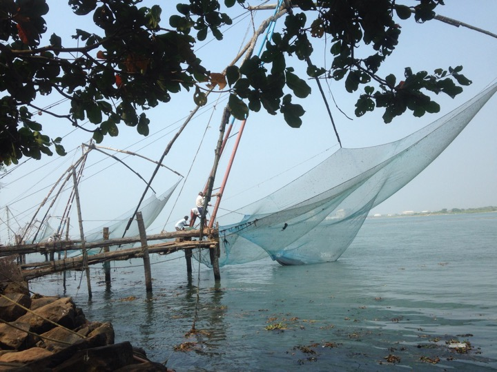 Chinese fishing nets in Fort Cochi, India