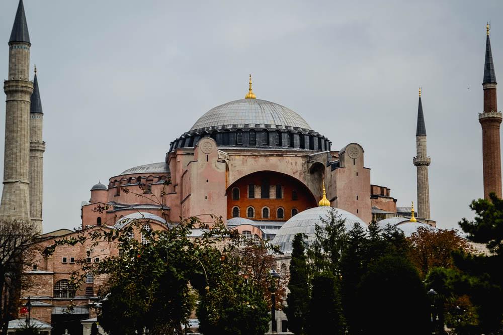 Exterior shot of the Haga Sophia in Istanbul Turkey