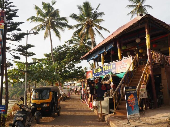 Street view in India, view of Rickshaw Varkala