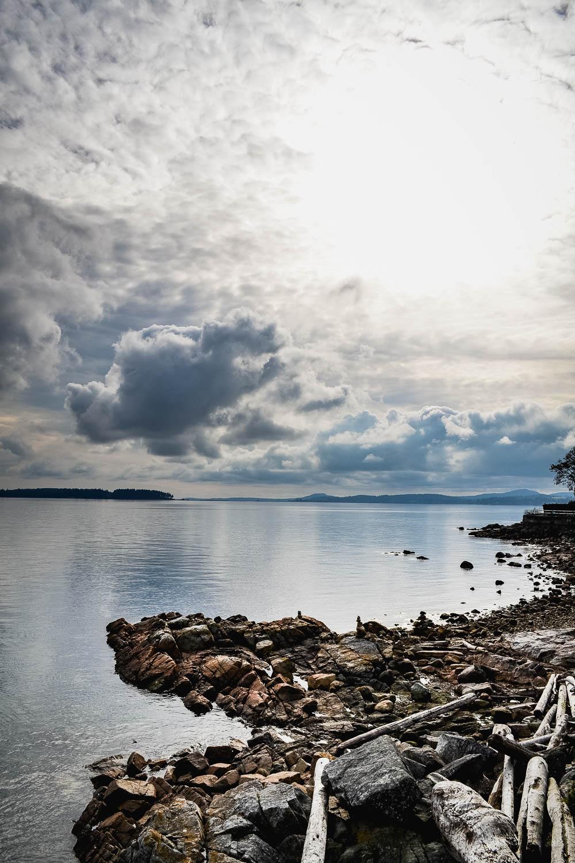 Sidney coastline view vancouver island